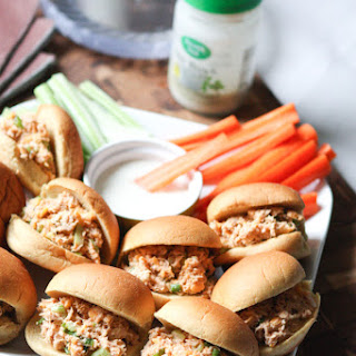 Barbecue Ranch Chicken Salad Sliders