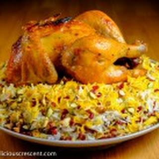 Barberry Quinoa Rice with Saffron Chicken.