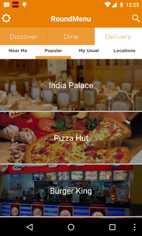 RoundMenu Restaurants+Delivery- screenshot