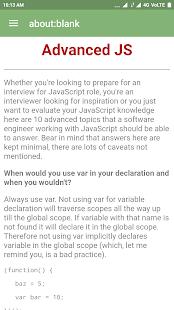 Javascript Interview FAQ's - náhled