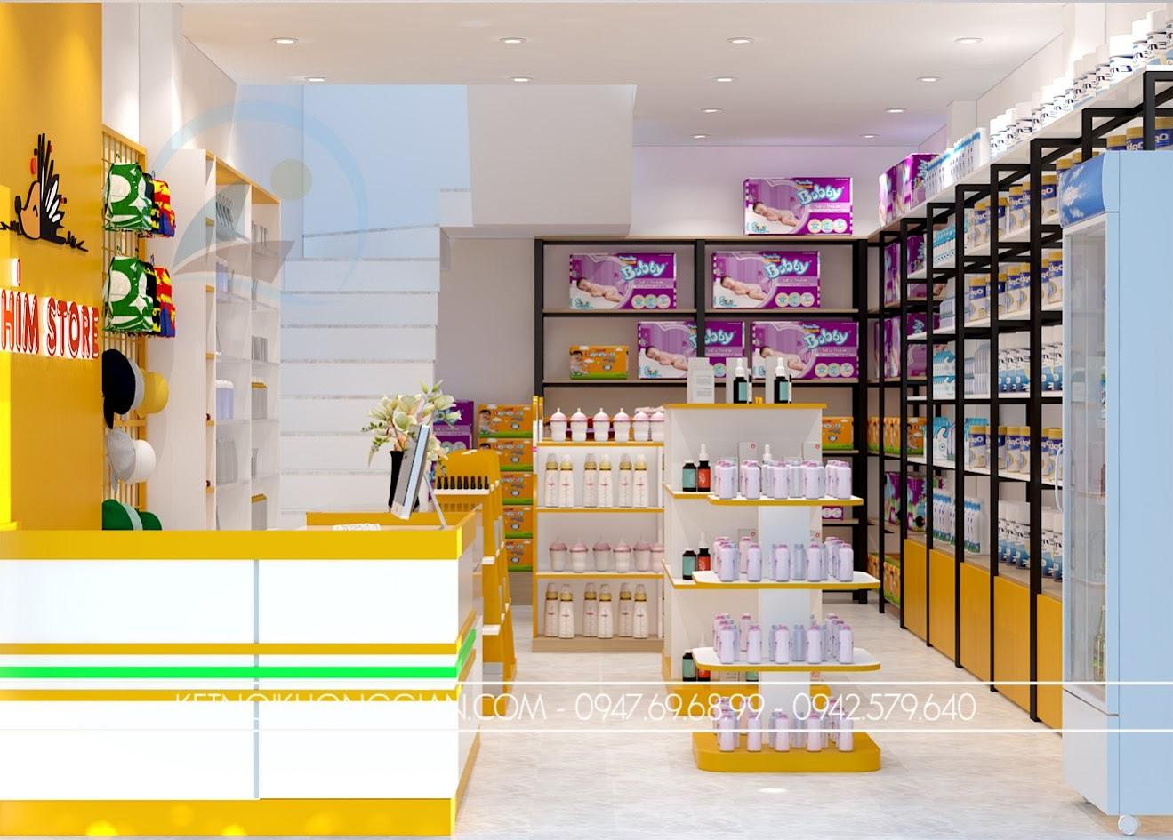thiết kế shop mẹ và bé nhím store 3