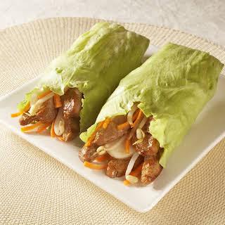 Teriyaki Pork Lettuce Wraps.