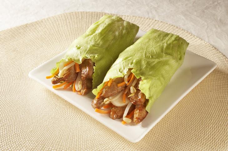 Teriyaki Pork Lettuce Wraps Recipe