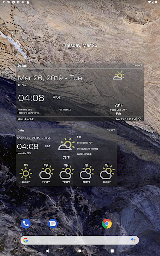Weather & Clock Widget for Android Ad Free screenshot 10