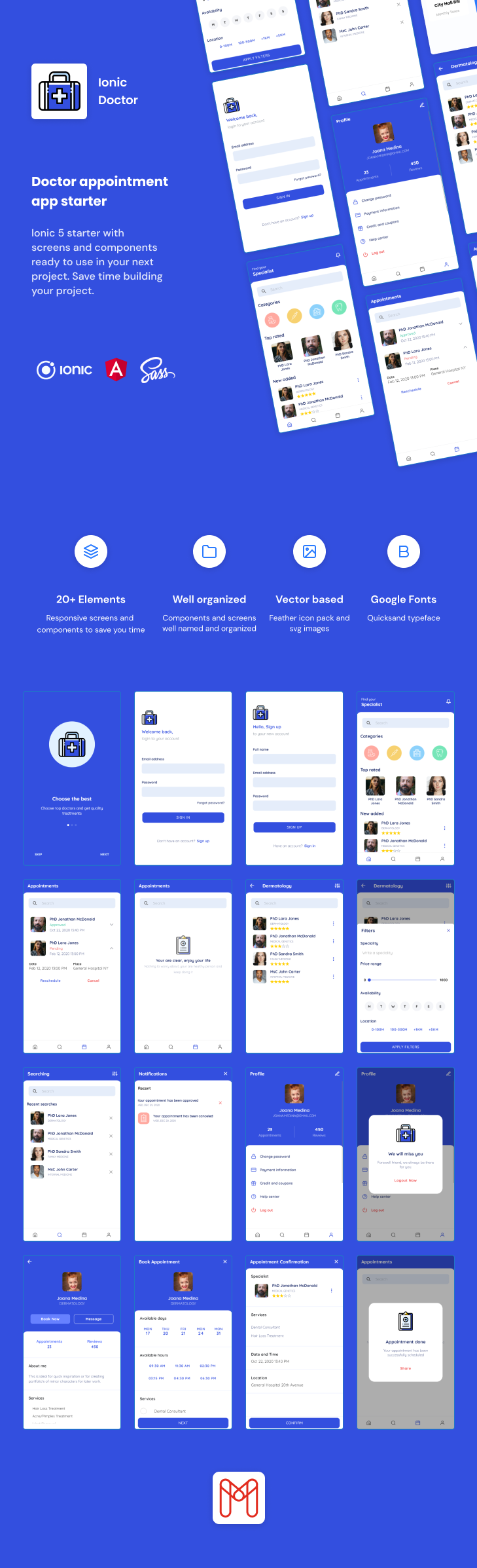 Ionic Doctor | Ionic 5 | Angular | UI Theme | Template App | Starter App & Components - 1