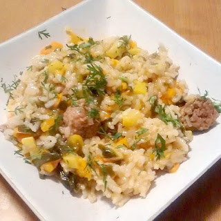 Cajun Sausage Risotto for the Instant Pot or Pressure Cooker.