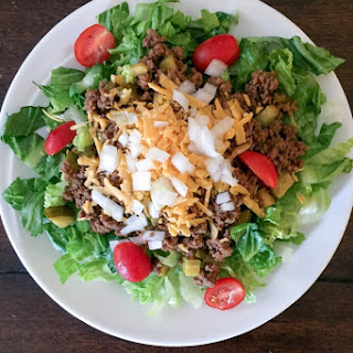 Easy Low Carb Cheeseburger Salad {THM-S}