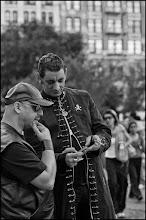 Photo: mobile phone entertainment. Union Square Park, NYV #streetphotography www.leannestaples.com