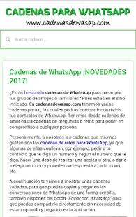 Download Cadenas De Watsap Originales 2018 Apk 1 2 Com Jmb Cadenaswasap Allfreeapk