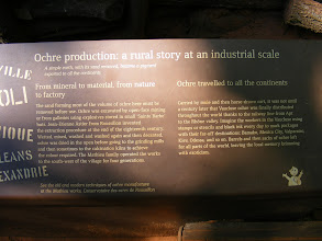 Photo: A bit of information on ochre mining.