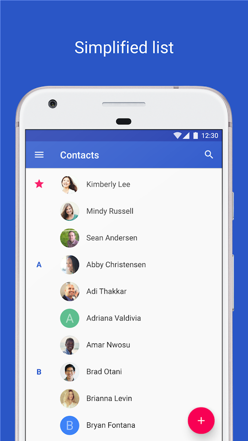 Contacts- screenshot