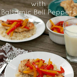 Grilled Chicken with Balsamic Bell Peppers.