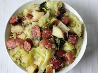 Steamed Cabbage With Smoked Sausage & Red Potatoes Recipe