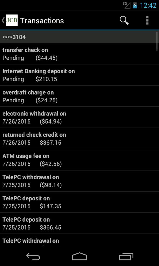 Johnson City Mobile Banking- screenshot