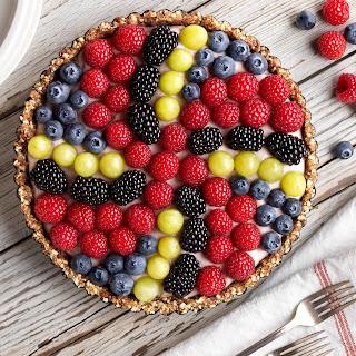 Vegan Pinwheel Berry Tart.