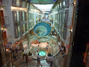 Photo: first look at ship's Promenade on the 5th floor