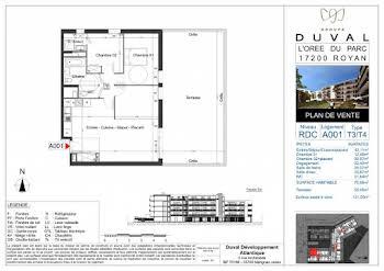 Appartement 3 pièces 75,95 m2