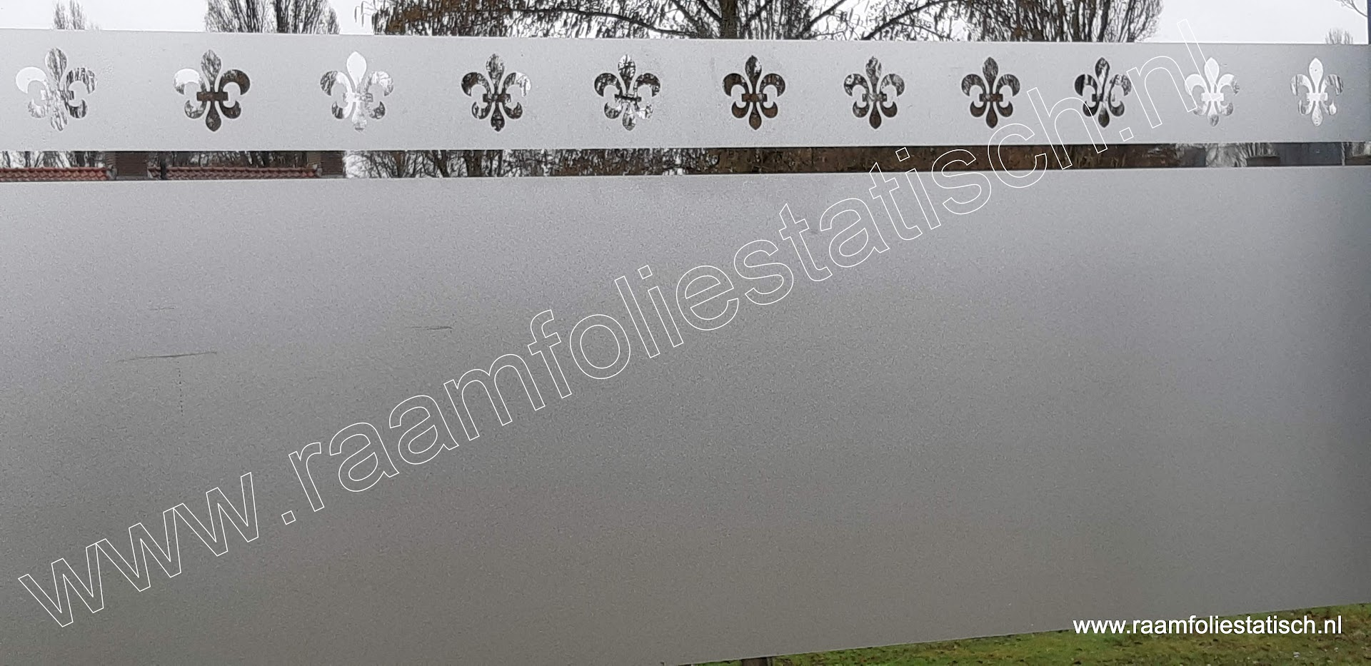 Strook barok 3 statische raamfolie met uitgesneden motieven