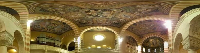 Photo: Ceiling view in the Augusta Victoria Basilica / Hospital, located on the Mount of Olives