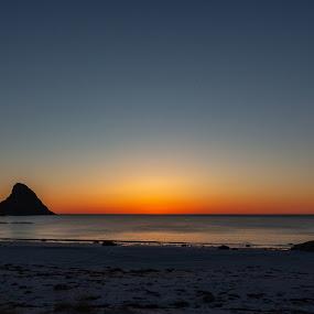 Sunset colors by Benny Høynes - Landscapes Sunsets & Sunrises ( islands, sunset, beach, norway, landscape, colorful )