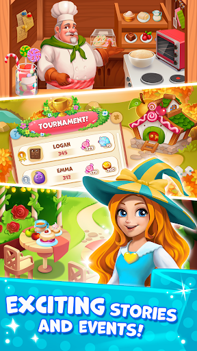 Candy Valley - Match 3 Puzzle apkpoly screenshots 2