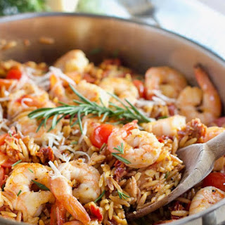 30 Minute Shrimp and Orzo with Sun Dried Tomatoes Recipe