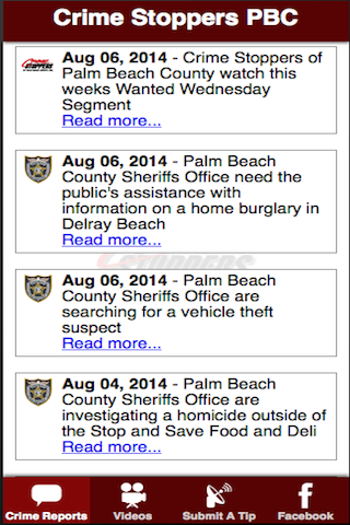 Crime Stoppers of PBC- screenshot