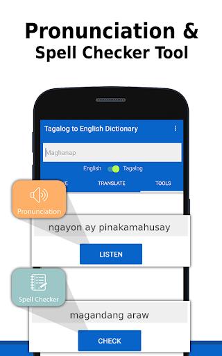 Screenshot for English to Tagalog Dictionary &Translator in Hong Kong Play Store