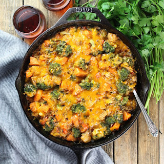 Chicken Skillet with Sweet Potatoes and Wild Rice.