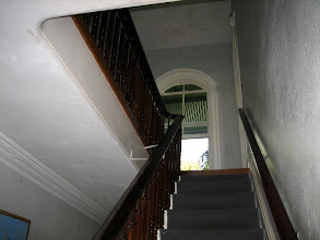 Photo: The stairway to the the second floor of Hemingway's house