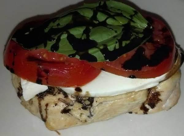 Caprese Chicken Stacker... W Reduced Balsamic :p Recipe