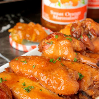 Slow Cooker Orange Chicken Wings.