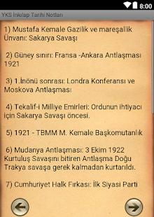 YKS İnkılap Tarihi Notları - náhled