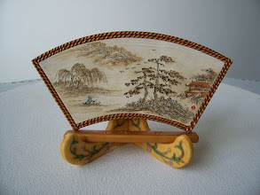 "Photo: Chinese Landscape table art - Polymer Clay Ivory and hand carved.  4"" x 6"" $249.00"