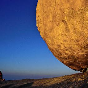 Meditation by Felix Hug - Travel Locations Landmarks ( monk, myanmar, meditation, sunrise, golden rock )