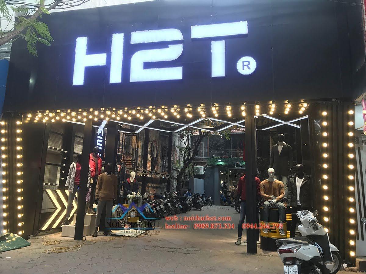 thiết kế shop thời trang nam h2t xuân thủy 6