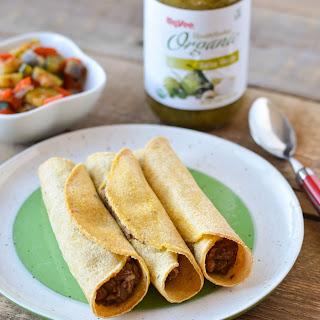 Lentil and Refried Bean Taquitos