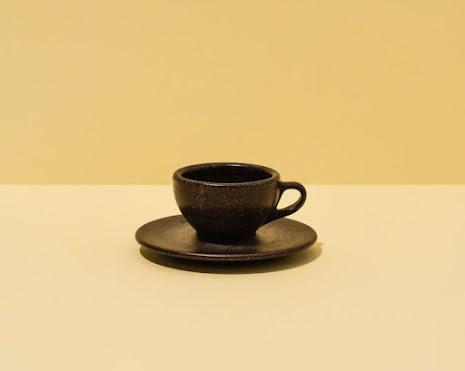 Espressokopp gjord av kaffesump