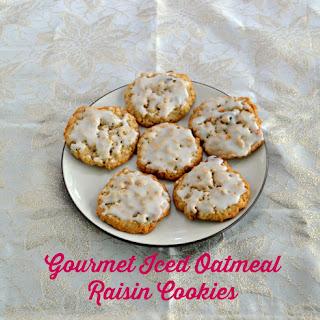 Gourmet Iced Oatmeal Raisin Cookies.