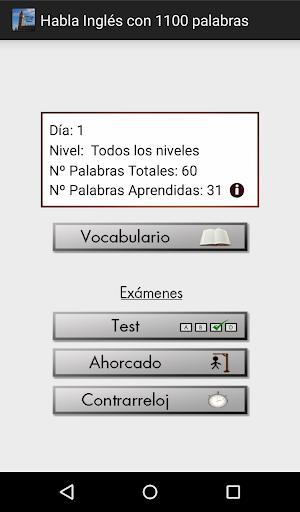 Habla Inglés con 1100 palabras screenshot