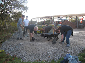 Photo: Moving stone to underpin the floor