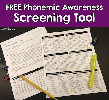 Phonemic Awareness screener