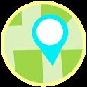 GPS Satellite Navigation Map icon