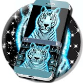 Tiger Neon Keyboard Theme