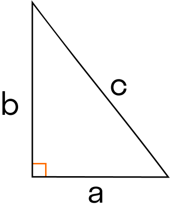 segi tiga dengan sisi a, b, c
