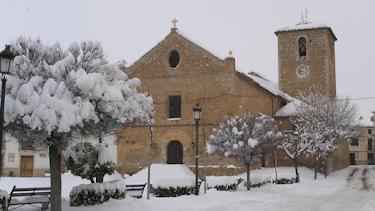 Imagen de María tras una nevada. Ayuntamiento de María.