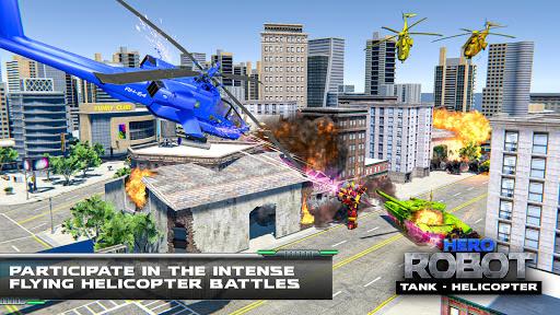 Helicopter Transform War Robot Hero: Tank Shooting 1.1 screenshots 6