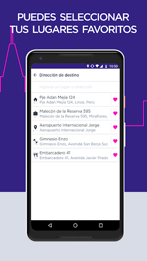 Fast Taxi - App gratuito de viajes. screenshot 3