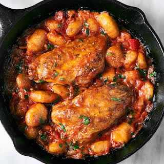 One-Pan Chicken Gnocchi with Tomato Butter Sauce.