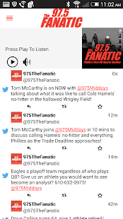 97.5 The Fanatic -Philadelphia- screenshot thumbnail